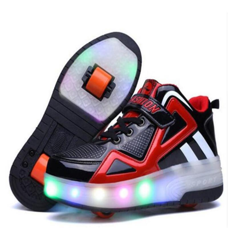 Светящиеся кроссовки с роликами