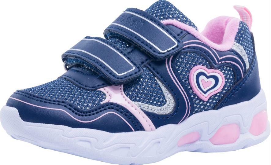 Светящиеся кроссовки для девочки Котофей