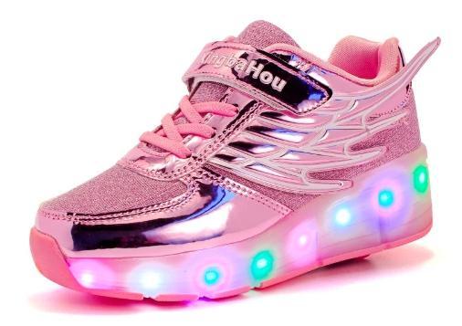 светодионые кроссовки с роликами
