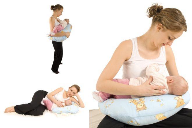 Подушка для кормления детей плюсы