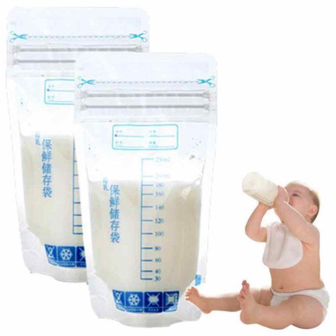 емкости для хранения грудного молока пакеты