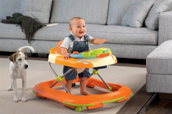 Польза ходунков для ребенка