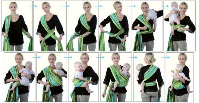 Как завязатьслинг-шарф