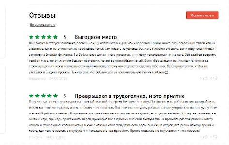 отзывы исполнителей о weblancer